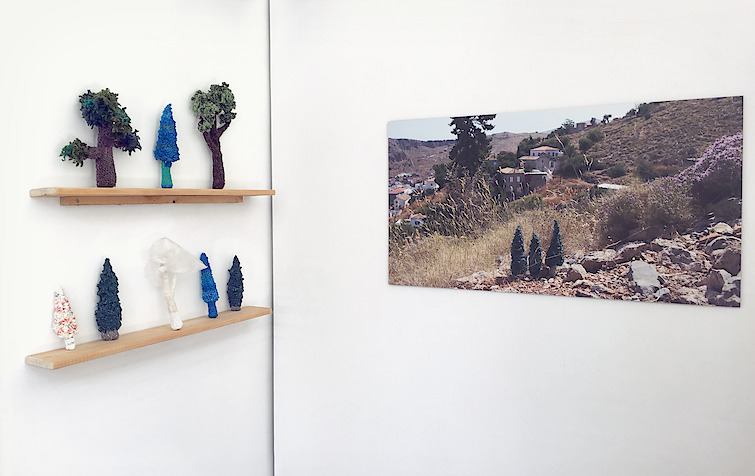 Gwen MacGregor: Treelines Greece, 2019, installed at Phoenix Projects, Athens